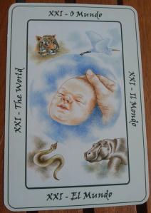 XXI - El Mundo, Tarot de Biodanza by Silvia Eick